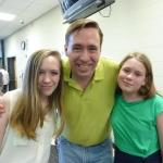 Brad Ferguson with his daughters Cassie and Catie in June 2015.