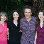 Rettner family photo - Libby, Emily, Charlie, and Rachel.  Charlie Rettner was Buddie's postdoc advisor.