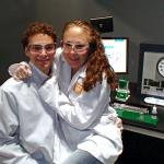 Kyle and Kyra Klavetter in the lab (2014).
