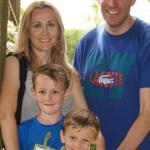 Randall and Iliyana Meyer with their two boys Alex and Andrei having fun together in 2014.