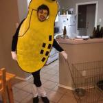 Alex Rettie in his Mr. Peanut 2014 Halloween costume looking pretty nutty!