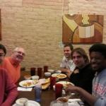 The catalysis subgroup at Teji's (Indian restaurant) for lunch.