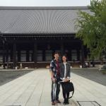Will and Kat Chemelewski in Kyoto, Japan in Fall 2014.