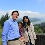 Yong-Mao, Alicia, and Ying-Chieh at the Columbia river gorge in Portland, OR.