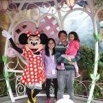 Minnie Mouse, Ying-Chieh, Yong-Mao, and Alicia at Disneyland in Fall 2014.