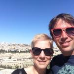 Adrian Brush and his Mom, Marianne, during their Spring 2014 vacation in Israel.