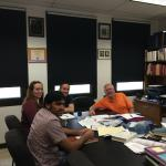A battery subgroup meeting with Shiva, Emily, Sean, and Buddie in July 2014.