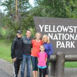 Jack, John, Carmen, Isabel, and Ana on the Davis family vacation in Yellowstone.